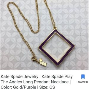 """Kate spade """"play the angles"""" necklace"""
